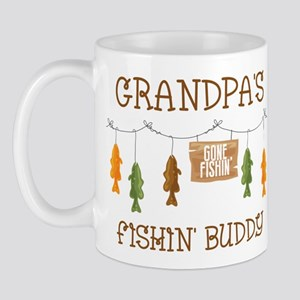 Gone Fishing Line Grandpa Mug